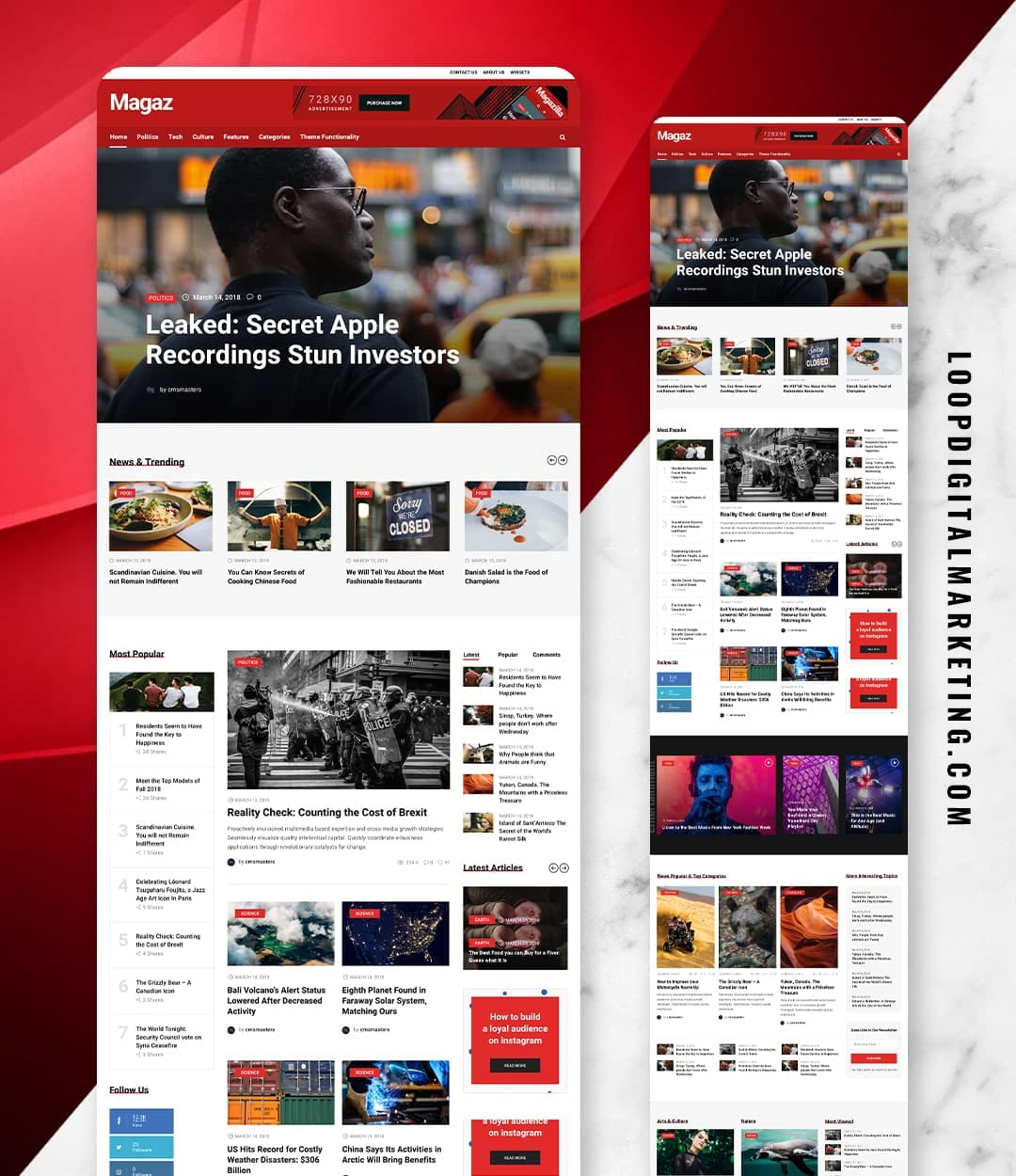 MEDIA/NEWS WEBSITE DESIGN