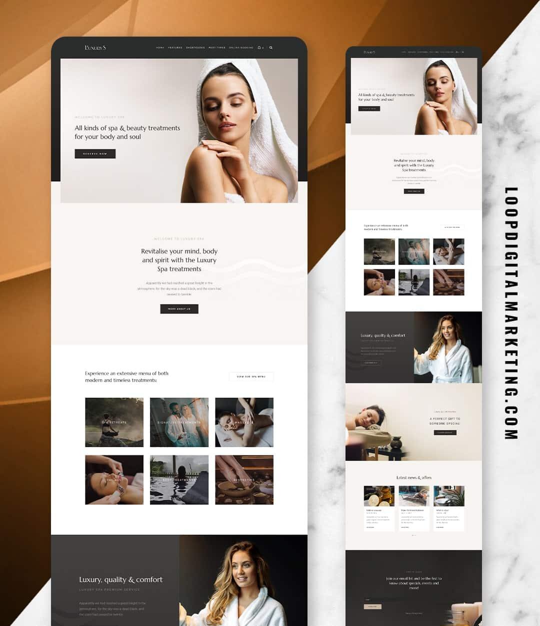 BEAUTY/SPA WEBSITE DESIGN