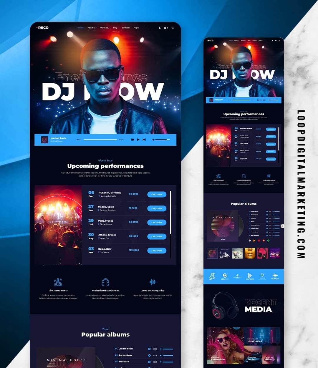MUSIC/DJ WEBSITE DESIGN